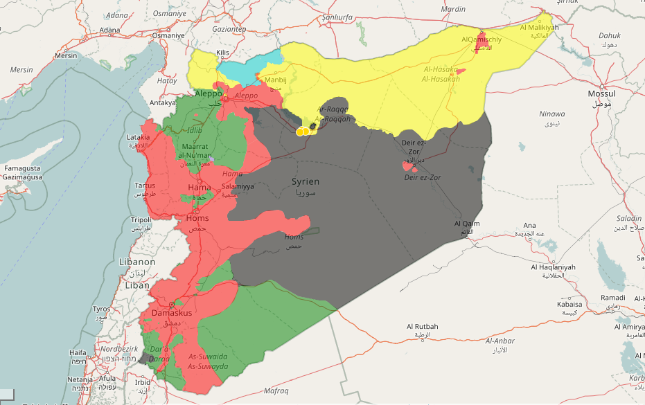 Syrian map March 2017